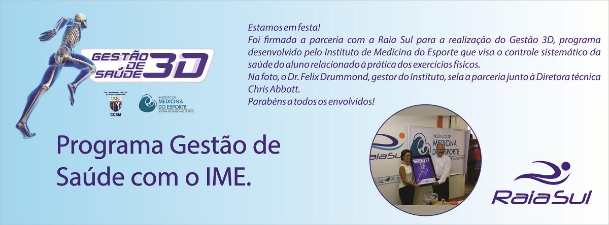 Gestão de Saúde 3D Programa de Gestão de Saúde com o IME
