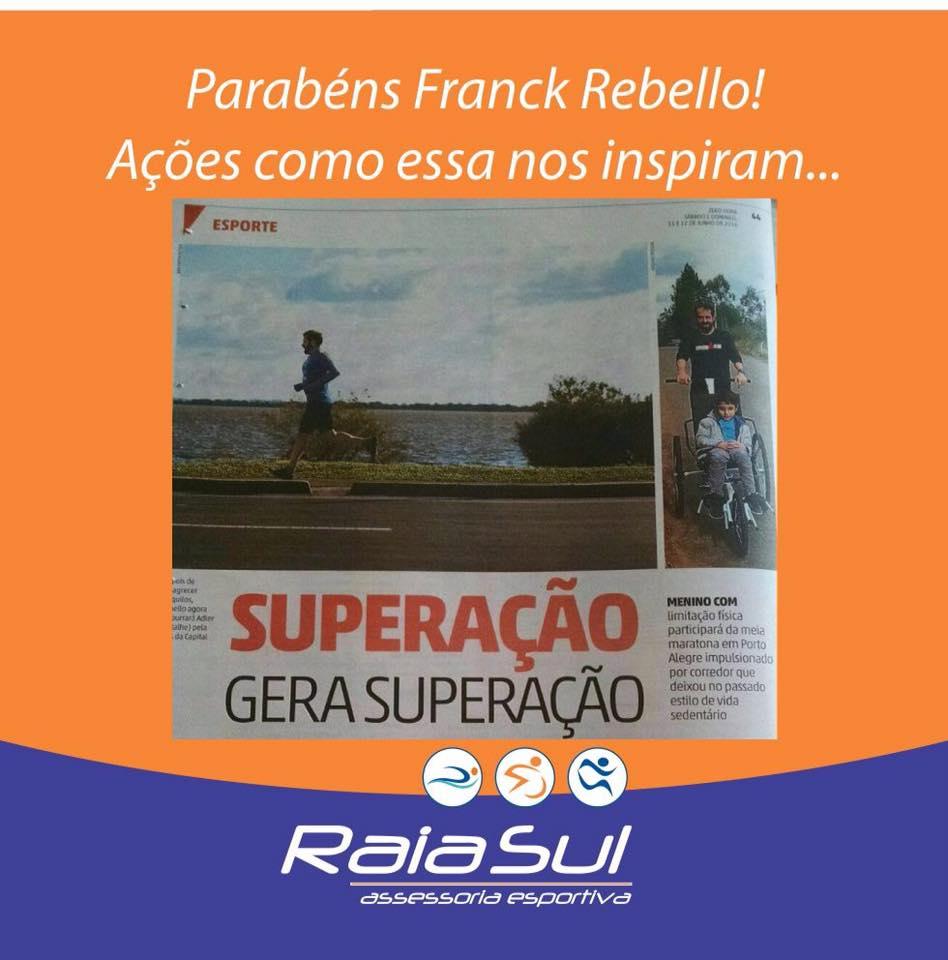 Parabéns pela atitude Franck Rebello, ações como essas nos inspiram!