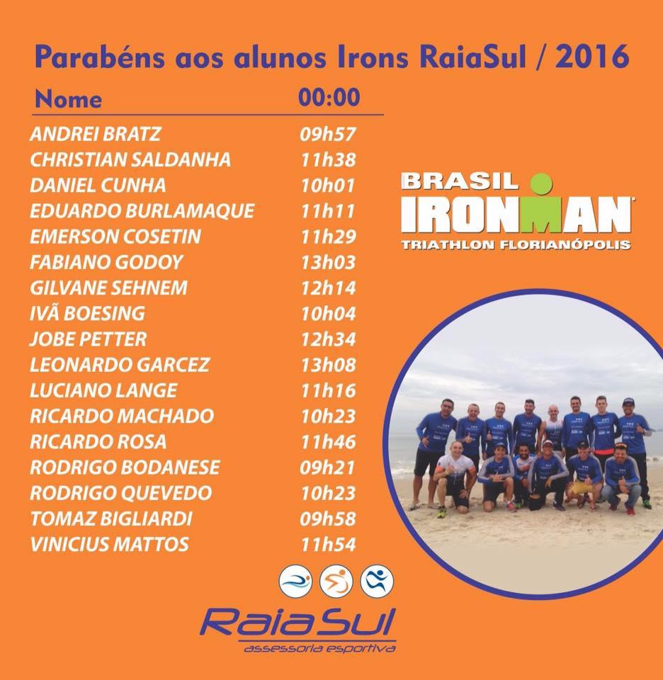 Parabéns a todos os alunos guerreiros! #IronmanBrasil2016