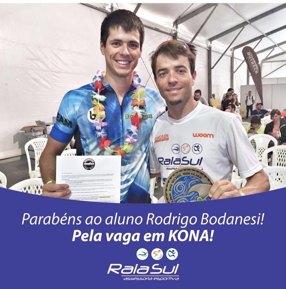 Parabéns ao aluno Rodrigo Bodanesi pela vaga em Kona!