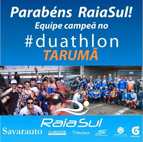 Parabéns RaiaSul! Equipe campeã no Duathlon Tarumã!!