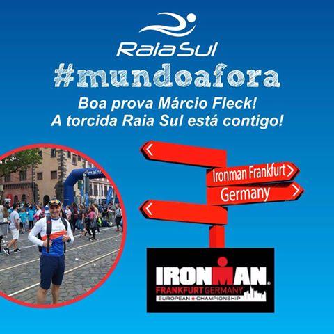 Boa prova Márcio Fleck! Estamos juntos no Ironman Frankfurt!